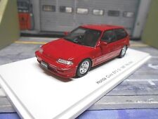 HONDA Civic MKIII EF3 Si Hatchback red rot 1987 Spark Resin Highenddetail 1:43