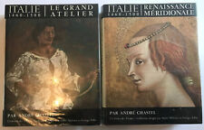 """2 x Vintage 1965 Art History Books in French, Andre Chastel """"Italie 1460-1500"""""""