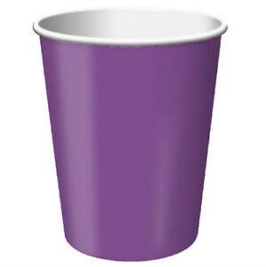 Purple 9oz Party Cups (24) - Party Supplies