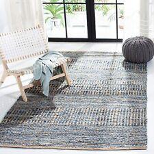 Safavieh Cape Cod Hand Made Flatweave Rug Natural Fiber Blue Demin 8'x8' Square
