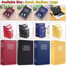 Secret Dictionary Book Safe Money Box Cash Storage Piggy Bank Coins Lock Case