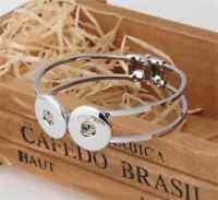 DIY 1pcs Handmade Fashion Bangle Bracelet fit Chunk Snap Button NEW   / / Charm
