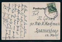 34406) Bahnpost Ovalstempel  Hamburg - Hoyerschleuse ZUG 1011, Karte (um 1910)