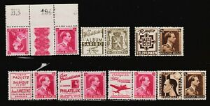Belgium 6 examples of Stamps with Adverts  + 1 other triple all un/mint. (lot4)