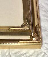 Set/2 Vintage Brass Ornate Embossed Easel Picture Frame ART DECO Corners 8x10