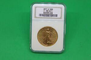 1911-D Saint Gaudens Gold Double Eagle $20 - NGC  MS62 -