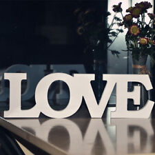 """White Wood Letters Words """"LOVE"""" Alphabets Wedding Home Shops Decorations Gift"""