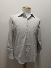 Vintage 1960's Blue Grey Men's Long Sleeve Dress Shirt, Deadstock, Nos