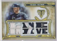 2020 Topps Triple Threads Baseball Freddie Freeman Multi Patch Card # 2/9 BRAVES