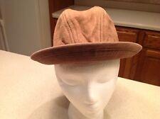 Vintage Men's Suede Fedora Hat Trav'Lee By Country Gentleman Size 7.25 Brown