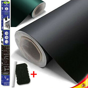 Vinyl Slate Black Adhesive Roll On Writing And Eraser + Chalk Eraser Gift