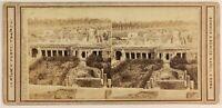 Pompei Italia Foto Sommer & Behles Foto Stereo PL56L1n Vintage Albumina c1865