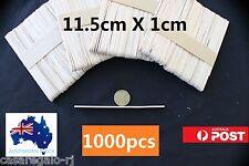 1000 pc Natural Wooden Craft Sticks Paddle Pop Sticks Ice Cream coffee stir