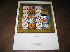 LS1 PERSONALIZED STAMPS GENERIC SMILERS COMPLETE  SHEET *