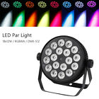 New Stage Washer RGBWA 5in1 LED Stage Par Light DMX512 Wall Wash Lighting 18x12W