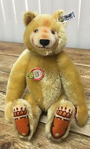 """Steiff W Germany 0172/32 1985 Dicky 1930 Replica Teddy Bear COA 03788 12"""" Mohair"""