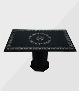 "36"" x 24"" Marble Center Table Top Inlay Semi Precious Stone Home Decor"