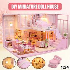 DIY Miniatur Haus Puppenhaus LED Kinder Geschenk Handcraft Doll House Kit Gift
