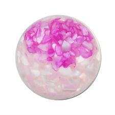 ANDANTE Druckknopf CHUNK Muschel Perlmutt Marmor Pink Rosa Weiß #4249 + GESCHENK