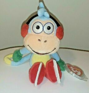 Ty Beanie Baby BOOTS the Monkey - Ice Skating (Dora the Explorer)(8 inch) MWMT