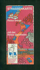 Strassenkarte Reise weise mit der Reise-Apotheke um 1960 Südwestdeutschland