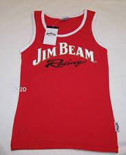 Jim Beam Racing Logo DJR Ford Ladies Red Printed Singlet Top Size 14 New