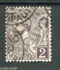 MONACO 1891-94, timbre CLASSIQUE 12, PRINCE ALBERT 1°, oblitéré
