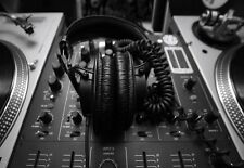 POSTER Artistico Twin Deck DJ Mixer RECORD DECK stampa
