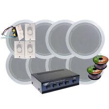 "NEW Pyle KTHSP86 4 Room In-Ceiling 6"" Speaker System w/4 Volume Controls Knob"