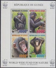 Guinea Mi.Nr. Block 929A Naturschutz, Schimpansen, postfrisch