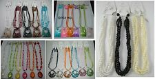 A-35 WHOLESALE LOT 10 PCS FASHION JEWELRY NECKLACE SET WITH EARRINGS