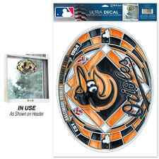"""BALTIMORE ORIOLES EST. 1954 ULTRA DECAL STAINED GLASS 11""""X17"""" BRAND NEW"""