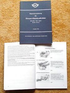 Reparaturanleitung Reparaturhandbuch Motor Simson Schwalbe Spatz Star KR50 SR2/E
