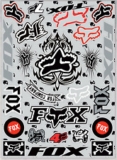 KIT STICKERS A3 ADESIVI MOTO CROSS MX QUAD FOX Decorazione casco,AUTO TESCHIO GR