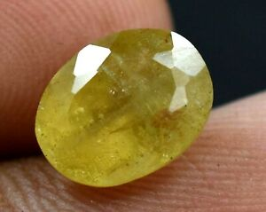 2.50 Ct 100% Natural Golden Heliodor Beryl AGSL Certified Oval Cut Gemstone