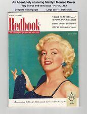 1953 REDBOOK - BEAUTIFUL MARILYN MONROE COVER - VERY SCARCE - HIGHER GRADE