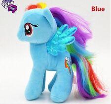 "Brand New 18CM 7"" My Little Pony Blue Plush Doll Toy Teddy Unicorn Horse GIFT"