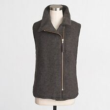 NWT J.Crew Factory SHERPA-LINED Vest Charcoal Grey Size Medium