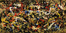 Jackson Pollock Oil painting on Canvas wall decor Abstract Convergence 24x48""