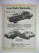 NOW THAT'S SUNTASTIC TORANA LH & TE CORTINA BODY KITS MAGAZINE ADVERTISEMENT