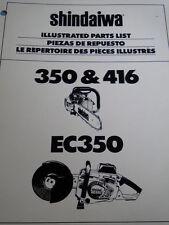 OEM Shindaiwa Chainsaw 360 & Concrete Saw 416 EC350 Illustrated Parts List