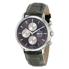 Edox Les Bemonts Chronograph Automatic Mens Watch 01120 3 GIN