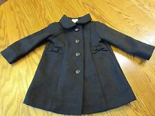 Gymboree VERY MERRY Black Bow Peacoat Baby Toddler Girl Size 12- 24 NEW