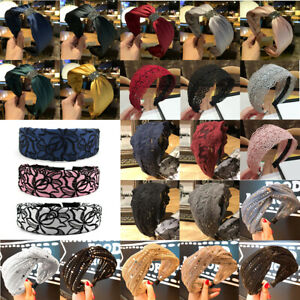 Christmas Women's Headband Hairband Wide Knot Hair Hoop Band Accessories Party