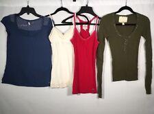 Hollister California Womens Sz XS S & Med Mixed Tank & Shirt Lot Of 4 Multicolor