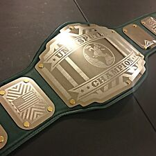 CLEARANCE ! Undisputed Championship Belt Legend Emerald Green Gold Accents wwe