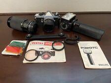 New listing Pentex Me Super 35mm Film Camera 50mm 1.7 & 200mm Zoom & More! Lot