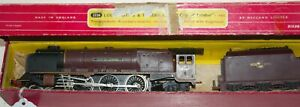 HORNBY DUBLO 2 RAIL  'CITY OF LONDON' RED LIVERY LOCOMOTIVE AND TENDER BOXED