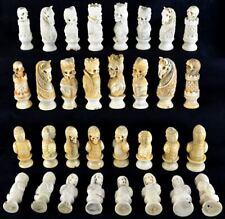 Schach Figuren - Skelette UNIKAT - Schnitzerei , Chess skeleton, Gothic