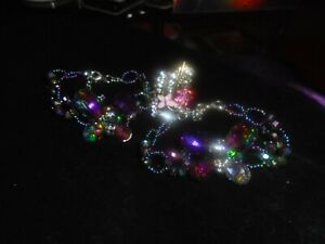 2 RHINESTONE BUTTERFLY BRACELETS AND  ENAMELED BUTTERFLY RING ADJUSTABLE